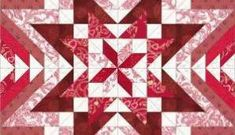 Red and white block design in EQ7