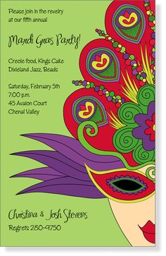 Mardi Gras Invitations.