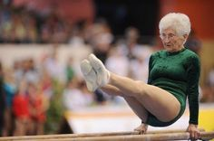 86-year-old gymnast does backflips and headstands « For Good News