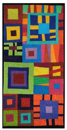 Jumping for Joy Art Quilt - Cindy Grisdela Patchwork Quilting, Scrappy Quilts, Art Quilting, Fiber Art Quilts, Quilt Art, Quilting Projects, Quilting Designs, Patch Bordado, Joy Art