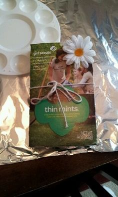 Recycled GS Cookie box made into book