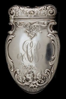 Silver Smalls:Match Safes, A WALLACE SILVER MATCH SAFE . R. Wallace & Sons Mfg. Co.,Wallingford, Connecticut, circa 1900. Marks: (stag) RW&S,STERLI...