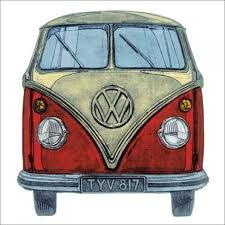 Image result for volkswagen campervan birthday card