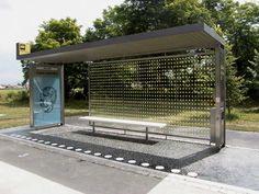 Prototype bus shelter by Bevk Perovic arhitekti, Slovenia. Urban Furniture, Street Furniture, Landscape And Urbanism, Landscape Design, Bus Stop Design, Bus Stand, Bus Shelters, Public Space Design, Urban Planning
