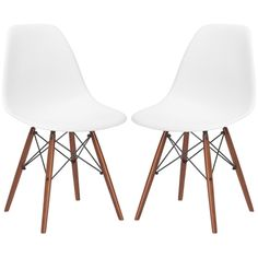 This is where we got our cheap eames knock-offs if you want a matching set (these are the walnut legs we have the lighter color). Otherwise you can find the real ones but usually easier to do mismatch set.