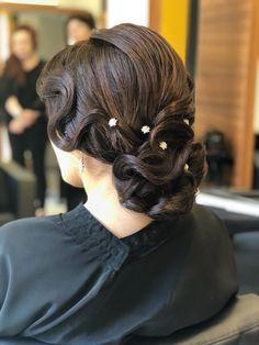 Recogidos con ondas al agua Corte Y Color, Beanie, Fashion, Vintage Hairstyles, Brides, Haircuts, Hair, Wedding, Moda