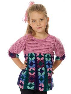 Just Plain Fun Child's Top | Yarn | Free Knitting Patterns | Crochet Patterns | Yarnspirations