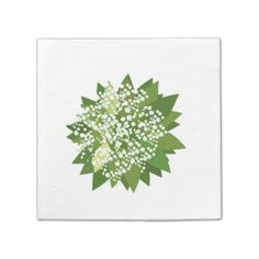 Lily of the valley napkin