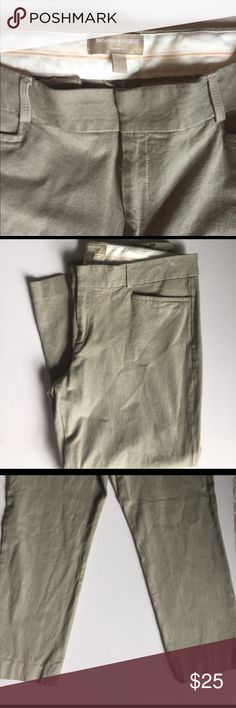"""Banana Republic Sloan Fit Pants Good condition, no flaws to note. These were professionally hemmed and have a 24"""" inseam. So they will probably have more of a crop/ankle fit. Same pants different color to show fit. Grayish taupe color. Banana Republic Pants Straight Leg"""