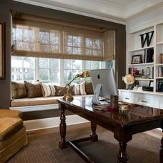 Downstairs office? Masculine Home Office Design Ideas, Pictures, Remodel, and Decor - page 9