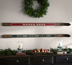 Holiday Ski Signs Wall Art