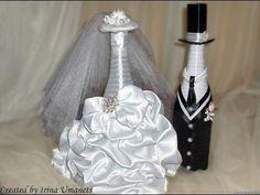 ▶ MANY WEDDING BOTTLE COUPLES FOR INSPIRATION - Свадебные бутылки фото - YouTube