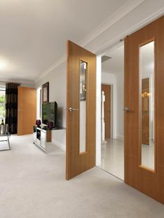 Oak painted doors that look just like a real veneer. JB Kind's Gallery - Louvre #interiordoor