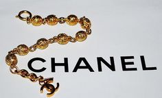 Authentic Chanel Vintage Harmony Ball Gold Plate CC by PurseAngels, $638.00