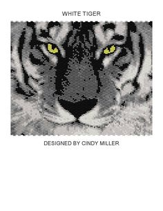 White Tiger Peyote Panel Pattern Buy 2 by JewelryPatternsPlus, $6.50