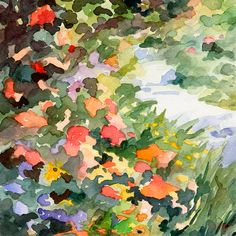Garden Painting - Path Monets Garden Watercolor Paintings of France by Beverly Brown Prints