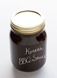 Korean Bbq Sauce - an all purpose sauloce that's perfect to use with chicken and veggie stir fry, baked salmon, grilled shrimp and even as a dressing for salads! | LittleSpiceJar.com #koreanbbqsauce #bbqsauce