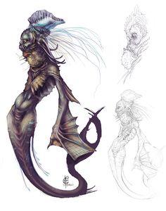 Puffer-mermaid by V4m2c4 on deviantART