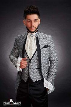 Tuxedo Shop, Mandarin Collar, Wedding Suits, Black Tie, Mens Suits, Bride Groom, Dress To Impress, Party Wear, Ready To Wear