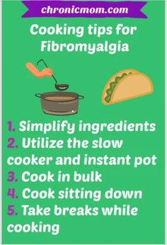 When you have Fibromyalgia or chronic illness it's important to eat healthy, but cooking from scratch can feel like daunting task. #fibromyalgia #cooking Fibromyalgia Pain, Endometriosis, Chronic Pain, Chronic Anemia, Chronic Illness, Adrenal Fatigue, Chronic Fatigue Syndrome, Lyme Disease, Invisible Illness