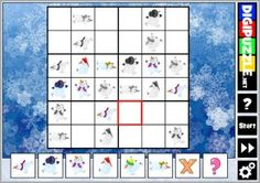 Winter Sudoku Winter Games, Puzzles, Play, Puzzle, Riddles, Jigsaw Puzzles