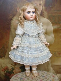 Very nice antique Jumeau Bebe nicely dressed. from les-fees-du-temps on Ruby Lane