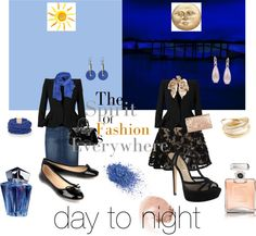 """day to night"" by akaclem ❤ liked on Polyvore"