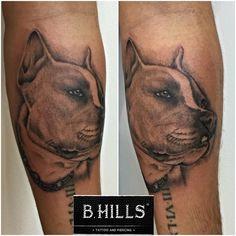 #Realistic #Dog #Tattoo #ink #shade #black&grey #tattooartist #passionart #art #bhillstattoo #ladyoktopus