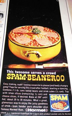Image result for vintage ad savoury spam fruit salad