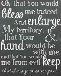 Prayer of Jabez: