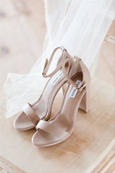 20 Minimalist Wedding Ideas For the Ultimate Simple & Chic Day - simple solid taupe heels {Lyndsey Pethel Photography}
