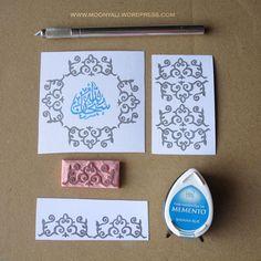 islamic art geometric arabic stamp carving block - ختم نقوش اسلامية Stamp Carving, Bahama Blue, Islamic Art