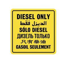 Diesel Only - Diesel Multi language Decal