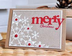 Papertrey Ink snowflake Christmas card using kraft card