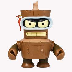 Futurama Wooden Bender 6-Inch | Kidrobot $50.00