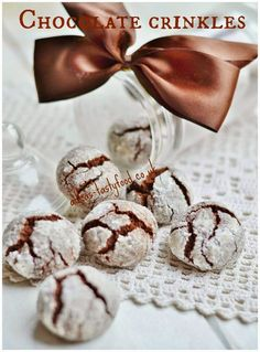 chute a vône mojej kuchyne. Chocolate Crinkles, Russian Recipes, My Recipes, Christmas Cookies, Sweets, Baking, Desserts, Christmas Recipes, Tarts