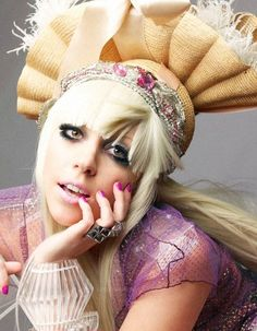 Lady Gaga wearing another crazy looking wig