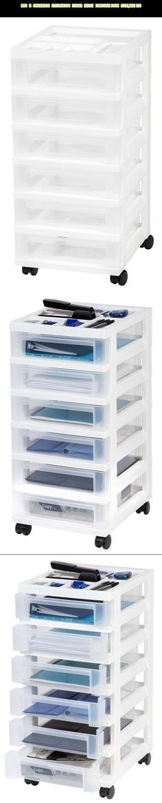 IRIS 6-Drawer Storage Cart with Organizer Top,White #fpv #technology #camera #parts #plans #racing #storage #gadgets #products #tech #drawers #drone #kit #shopping #with