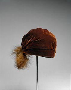 "Circa 1924 ""Hemingway, Philadelphia"" silk and feather hat."