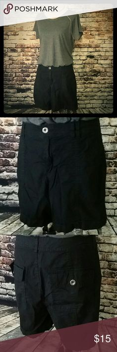 Selling this Black utility shorts in my Poshmark closet! My username is: thelbdboutique1. #shopmycloset #poshmark #fashion #shopping #style #forsale #a.n.a #Pants