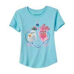 Girls 7-16 Angry Birds Dynamic Duo Matilda & Stella Graphic Tee, Girl's, Size: