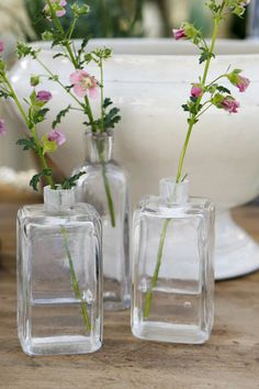 Just because, I think they fit the time period, and during the summer they can pick roses or other flowers putting them in these and setting them on the cabinet tops in the kitchen