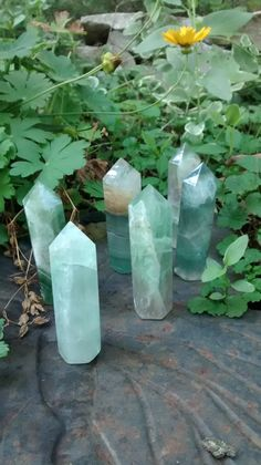 Chinese Fluorite Crystal Points by CalliecoGeodes on Etsy