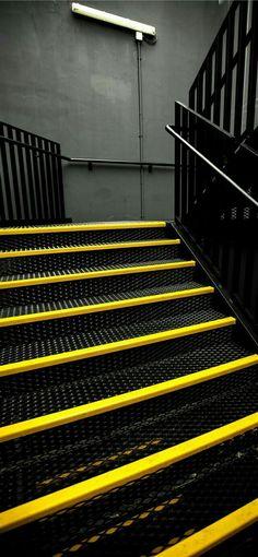 Wallpaper Iphone Yellow Cloud Ideas For 2019 Design Garage, Gym Design, Yellow Cloud, Black N Yellow, Gold Wall, Whatsapp Wallpaper, Gym Interior, Metal Stairs, Jolie Photo