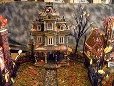 Halloween Village Display / Dept. 56 Halloween Display  ▶ Boyd Family Halloween Village - Dept 56 - YouTube. Inspiring! I can't wait to put my village up.