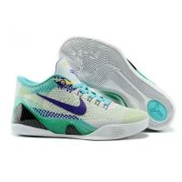 Nike Kobe IX 9 Elite Low grey blue purple mens basketball shoes