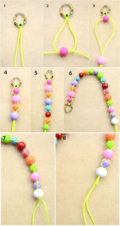 How to Make Cord Bracelets With Beads- Bead Jewelry for Begi.- How to Make Cord Bracelets With Beads- Bead Jewelry for Beginners How to Make Cord Bracelets With Beads- Bead Jewelry for Beginners - Pony Bead Bracelets, Making Bracelets With Beads, Beaded Braclets, Diy Bracelets Easy, Bracelet Crafts, Cord Bracelets, Pony Beads, Beaded Jewelry, Handmade Jewelry