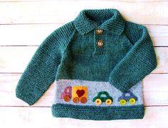 Ropa del bebé de los muchachos  mano suéter por SilverMapleKnits