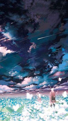 grafika anime and sky