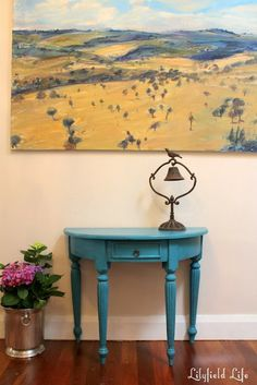 Lilyfield Life: Painted Turquoise Hall Table Makeover